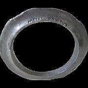 SALE Avant-garde METAL POINTU'S Designer Distressed Chic Mixed Silver Metals Unisex BANGLE .