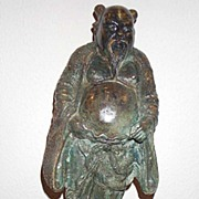 SALE An antique/vintage Chinese bronze statue of an immortal