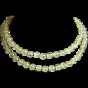 "SALE Amazing Vintage Knotted Rose Quartz Pink Jade Necklace 26"""