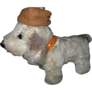 Toy Stuffed Dog w/ Hat for Large Doll