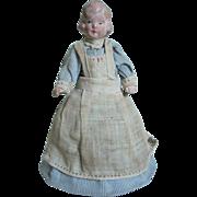 SALE *** Unusual Nurse  Or Nursery Maid Or Servant's Doll Bell - Half Doll