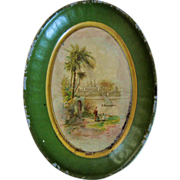 Pretty Miniature Tole Tray For Doll House