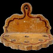 REDUCED Vintage Wood Miniature Doll House Hanging Utensil / Spoon Rack
