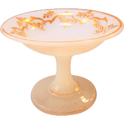 Lovely Miniature White Opaline Glass Compote For Fashion Doll