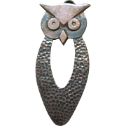 Taxco Mexico Sterling Silver Owl Pendant