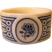 Napkin Ring Hutschenreuther Germany Blue & White