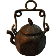 SALE PENDING Doll's Miniature Tea Kettle Made From Penny - Teeny Tiny
