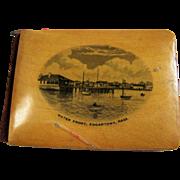Edgartown, MA Mauchline Ware Notebook W/ Pencil