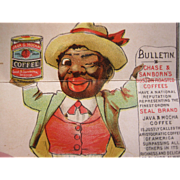 Black Americana Metamorphic Advertising Coffee Trade Card - Chase & Sanborn's