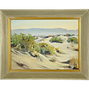 Plein Air Desert Landscape Oil Painting by California Artist Frederick Richard Chisnall