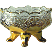 US Glass Company Reverse 44 (Athena) Footed Berry Bowl, c. 1902