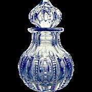 SOLD Vintage Cut Glass Scent Cologne Bottle