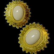 Ben Amun Signed Vintage Designer Earrings