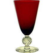 Morgantown Golf Ball Red Parfait Glass