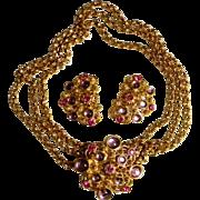 Barrera for Avon Fabulous Vintage Designer Necklace & Earrings, c. 1992