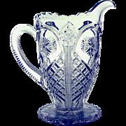 Vintage Pressed Pattern Glass Milk Pitcher