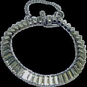 Vintage 1960's Signed Hattie Carnegie Rhinestone Bracelet