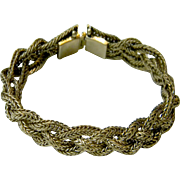 Vintage Rich Looking Braided Brass Bracelet