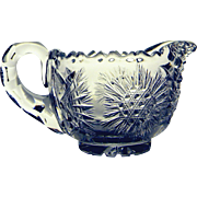 Vintage Beautifully Cut Glass Cream Pitcher