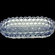 Fostoria American Glass Pickle Dish
