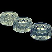Fostoria Glass Elegant American Set of Three Individual Salt Dips