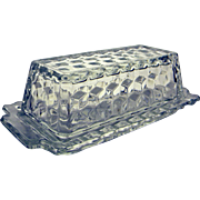 Fostoria American Glass Elegant Quarter Pound Covered Butter Dish