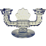 Fostoria American Glass Elegant Double Candle Holder