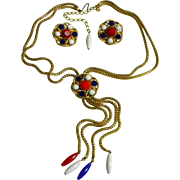 Highly Collected Signed Hobe Vintage Necklace with Matching Earrings