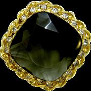 Rich Austrian 1950's Crystal Brooch ~Understated Elegance!~