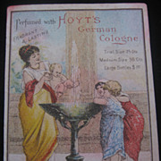 REDUCED Vintage Original German Hoyt's Perfume Trade Card-Lowell Mass-USA