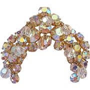 Vintage Juliana-D & E Aurora-Crystal and Rhinestone Pin-Brooch