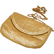 Gold Mesh Vintage Clutch & Shoulder Bag