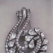 EISENBERG ORIGINAL Sterling Brilliant Large Vintage Fur Clip
