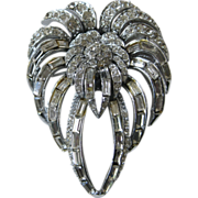 SALE PELL Stunning Brilliant Rhinestones Large Brooch Pin
