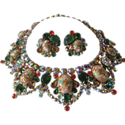 SALE JULIANA Easter Egg Large Bib Necklace & Earrings Demi Parure
