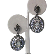 SALE Beautiful Gemstones & Cz Stones Sterling Silver Earrings