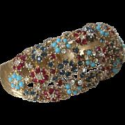 SALE Large Flower Clusters cuff Bracelet Unsigned Ciner