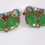 Juliana Green Art Glass Earrings