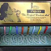 SOLD Vintage 1950s Barware Novelty Gift Plastic Stop Ice in Original Box