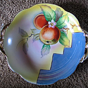 SALE Vintage 1920s Art Deco Era Noritake Hand Painted Lustreware Fruit Bowl China Porcelain