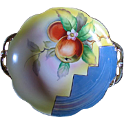 Vintage 1920s Art Deco Era Noritake Hand Painted Lustreware Fruit Bowl China Porcelain