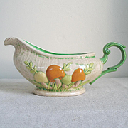 Vintage 1970s Gravy Boat with Colorful Mushroom Motif