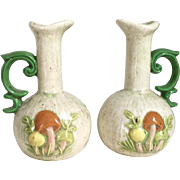 Vintage 1970s Ceramic Oil and Vinegar Cruet Set with Mushroom Design