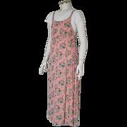 Vintage 1993 Cinnamon Girl Tiny Floral Print Blush Pink Dress