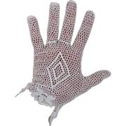 Vintage Crocheted Gloves Creamy Off White Diamond Back Design