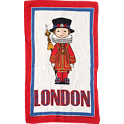 Vintage Irish Linen London Beefeater Palace Guard Tea Towel Kitchen Towel by Ulster