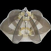 Authentic Vintage 1960s 1970s Mod Swag Plexiglas Filament Hanging Lamp
