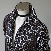 Vintage 1960s Butterfield 8 Vegas Leopard Print Trapeze Lounge M L