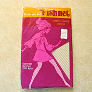 Vintage NIP New In Package  NOS  New Old Stock WHITE Fishnet Stockings