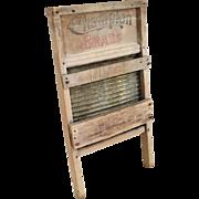 Vintage Brass Washboard Scrubbing Board by Champion